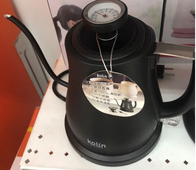 美琪 快煮壺 Kolin歌林溫度顯示咖啡手沖細口快煮壺