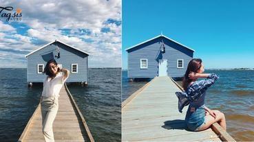 以天空和大海作背景的藍色小屋,藍色控絕對不能錯過~拍一個下午也不過份!