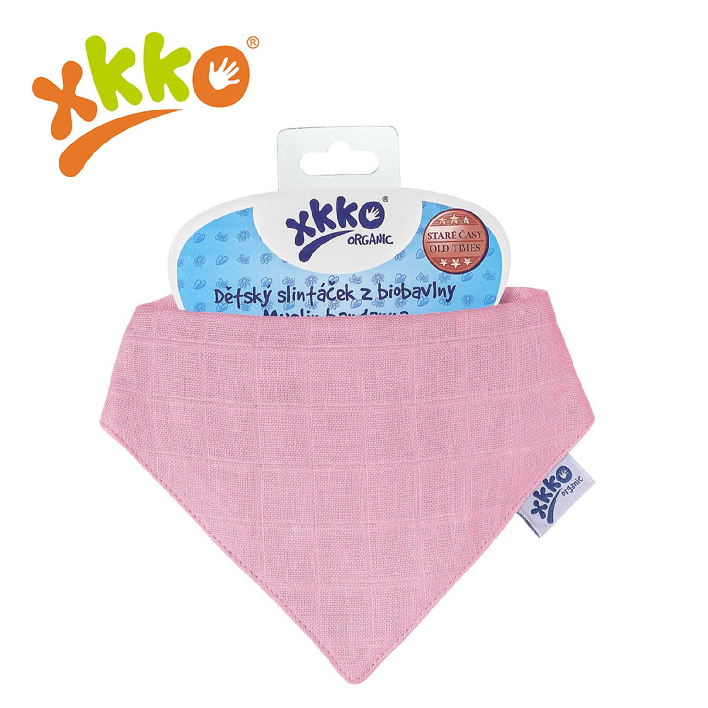 XKKO - 有機棉紗布口水巾-粉紅色