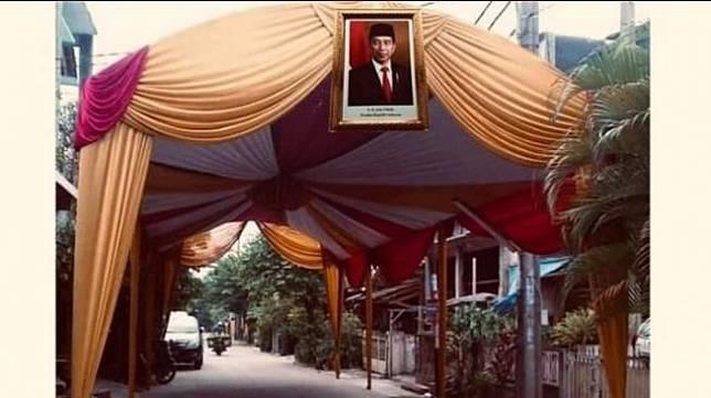 Viral Ide Pasang Foto Jokowi di Hajatan Biar Tak Dibubarkan karena COVID-19