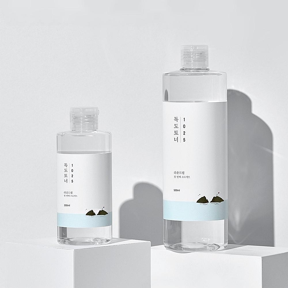 2020 OLIVE YOUNG年度化妝水TOP1:ROUND LAB 1025獨島化妝水,200ml/約NT360