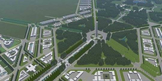 Maket Ibu Kota Baru. ©2019 dok. Kemen PUPR