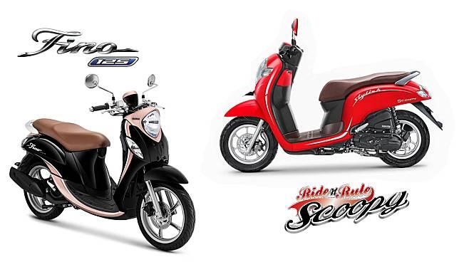 KOMPARASI: Adu Retro Honda Scoopy atau Yamaha Fino Grande