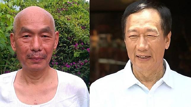 前立委林正杰(左)、鴻海創辦人郭台銘(右)。圖/翻攝自林正杰臉書、TVBS