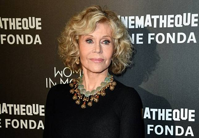 US actress Jane Fonda poses as she attends a retrospective of her career at the Cinematheque de Paris on October 22, 2018.