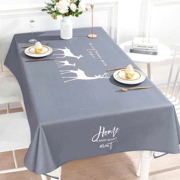 桌布 2 北歐桌布布藝棉麻長方形書桌電視櫃茶幾桌布家用防水餐桌布台布 莎拉嘿幼