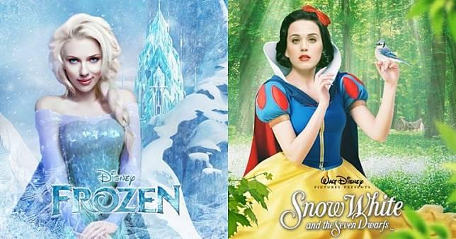 10 Poster kartun Disney jika diperankan seleb dunia ini cocok banget