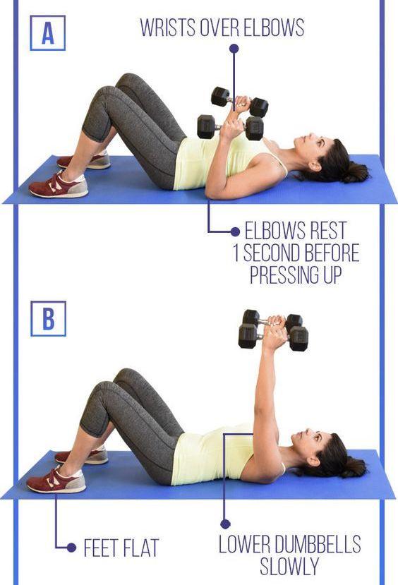 豐胸按摩動作3:胸推