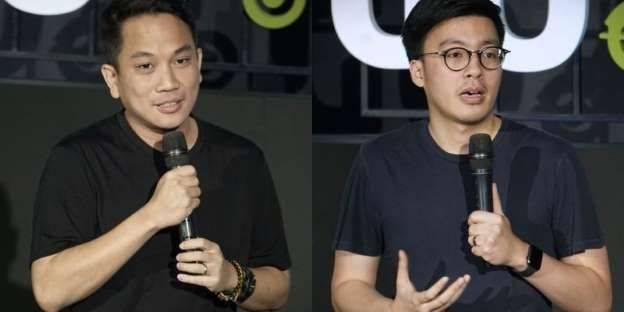 Andre Soelistyo dan Kevin Aluwi  (ki-ka) sebagai co- CEO baru Gojek