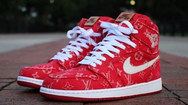 Red Ribbon Recon 打造 Air Jordan 1 全新「Supreme x Louis Vuitton」定製配色