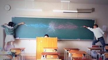 黑板塗鴉成這樣 是要怎麼上課啦...