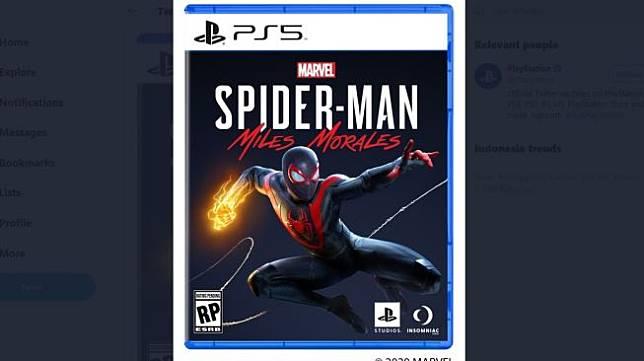 Desain baru untuk kotak game PS5. [Twitter/Playstation].
