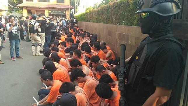 Polres Metro Jakarta Barat mengamankan 183 perusuh saat aksi 21 dan 22 Mei 2019, Kamis (23/5/2019).