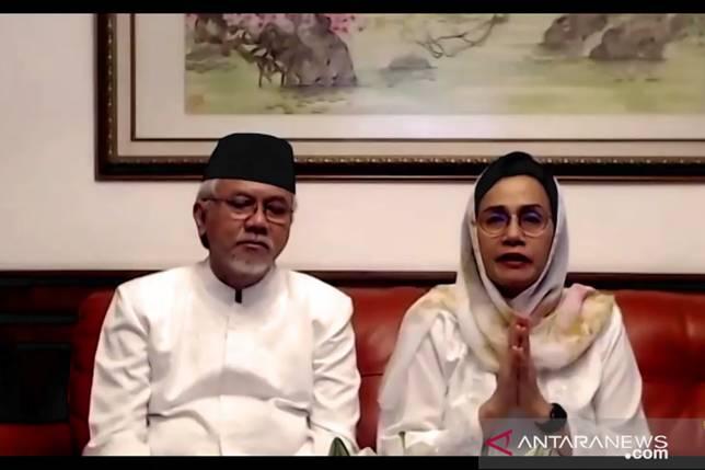 Sri Mulyani menangis ucapkan Selamat Idul Fitri