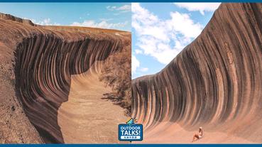 沒有水的海波浪岩石澳洲伯斯Wave Rock