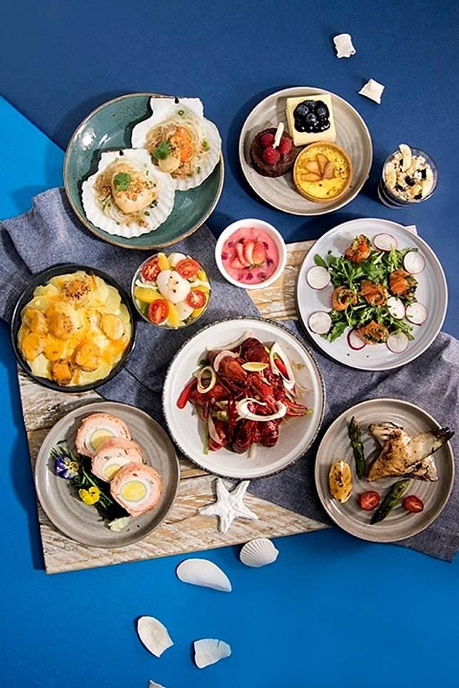 自助餐以3款海鮮作主打,各有不同的煮法。(互聯網)