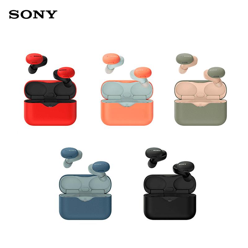 【SONY 索尼】真無線藍牙耳機(WF-H800),黑、藍、紅、綠、橘共 5 色任選。耳機輕巧纖薄,配戴舒適,方便隨身攜帶。單次充電可連續使用 70 分鐘,搭配電池倉可使用約 16 小時。音質卓越,傳