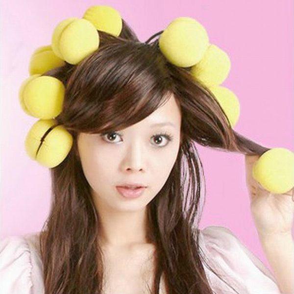 捲髮器 海綿捲髮球髮捲 梨花捲髮器 物理捲髮神器名創甜甜圈捲髮器12個裝 城市科技