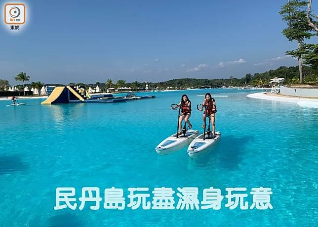 SG$30(約HK$171)的組合套票,已包括划艇或水上單車等項目。(李家俊攝)
