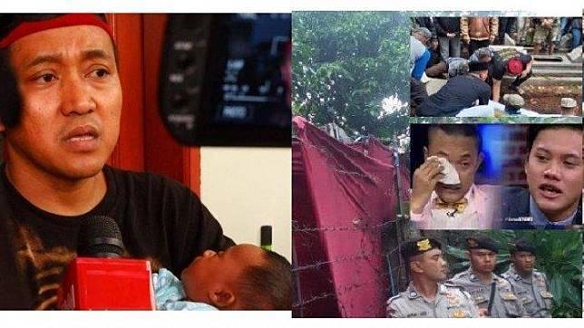 Teddy Pardiyana sesalkan gali kubur, otopsi dan pemakaman ulang Lina Zubaedah, mantan istri Sule dan ibunda Rizky Febian. Foto: Kolase TribunStyle.com/ Sumber: Tribun Jabar/ Mega Nugraha