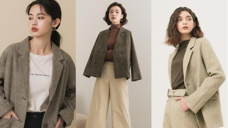可以休閒也可以正式!女生秋冬西裝外套穿搭,一不小心比男友帥!