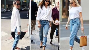 時尚博客示範最完美的配搭:白衣與牛仔褲