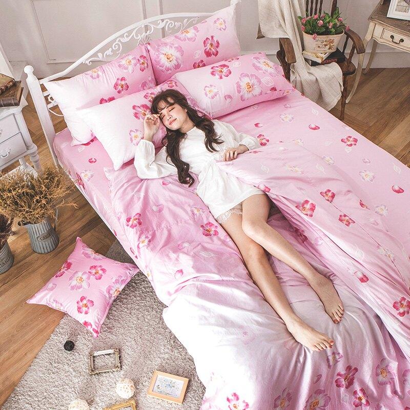 床包兩用被套組 / 雙人-100%精梳棉【AP翩翩飛舞】60支精梳棉 含兩件枕套 戀家小舖 好窩生活節 台灣製