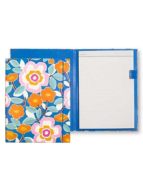 Write it all down here in Kate Spade New York's pop floral notepad folio. It even has an interior po