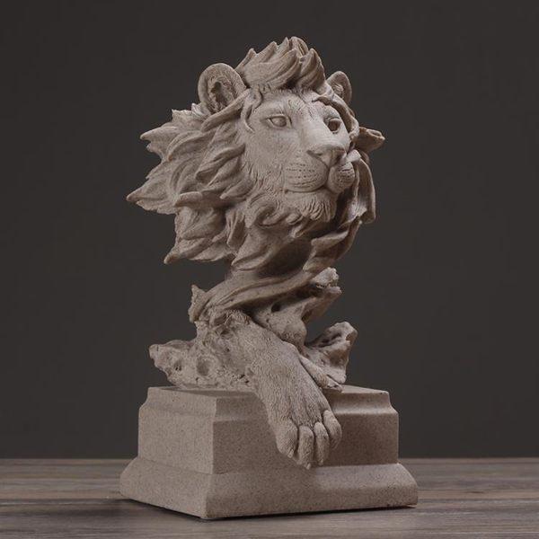 618年㊥大促 北歐現代簡約獅子雕塑擺件動物藝術品 家居飾品客廳軟裝工藝品