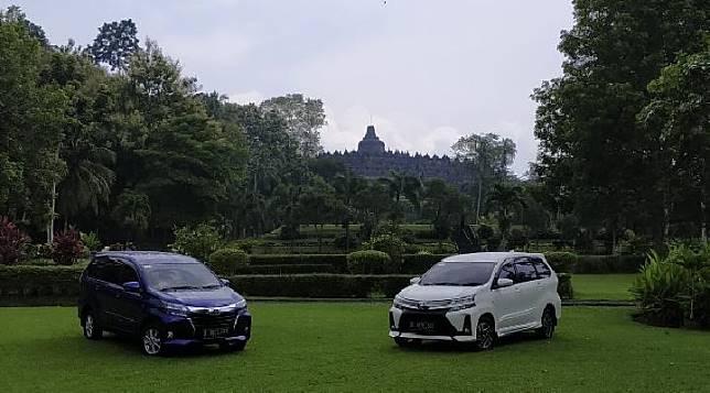 Pengetesan New Toyota Avanza di Candi Borobudur, Magelang, Rabu 27 Februari 2019. TEMPO/Wawan Priyanto