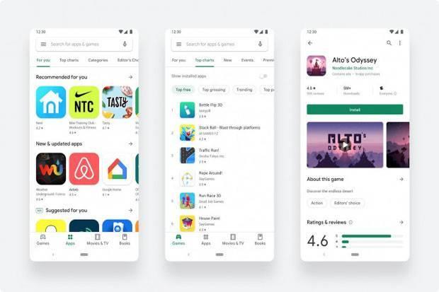 Desain Ulang Google Play Store Resmi Tersedia untuk Semua Orang