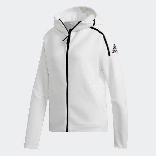 Adidas Z.N.E. FAST RELEASE 女裝 外套 連帽 慢跑 休閒 排汗 白【運動世界】EK4324。人氣店家運動世界的【女性服飾】、【Adidas】有最棒的商品。快到日本NO.1的R