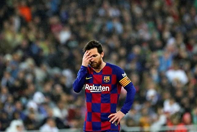 Penyerang Barcelona Lionel Messi.