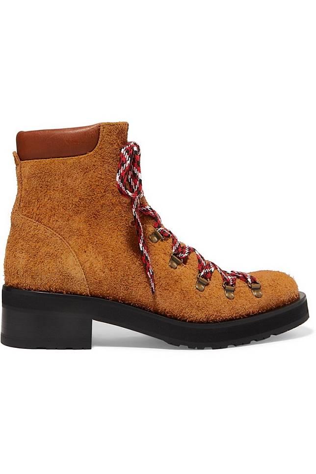 RUPERT SANDERSON駝色麖皮高筒行山鞋(互聯網)