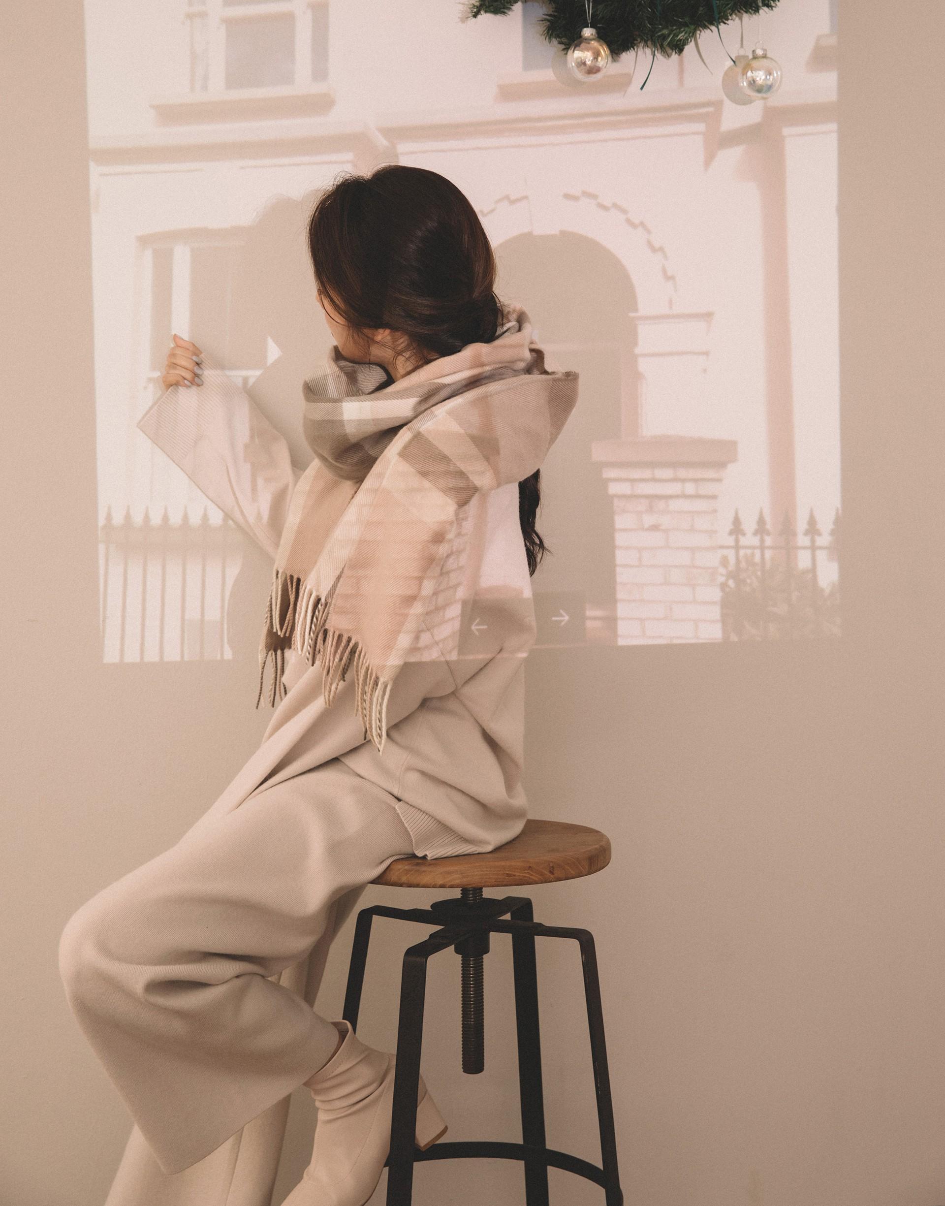 PAZZO+慵懶style素色V領針織套裝