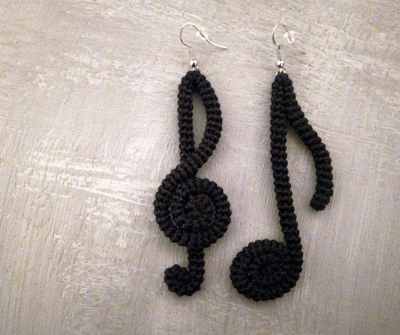 音樂耳環藝術飾品