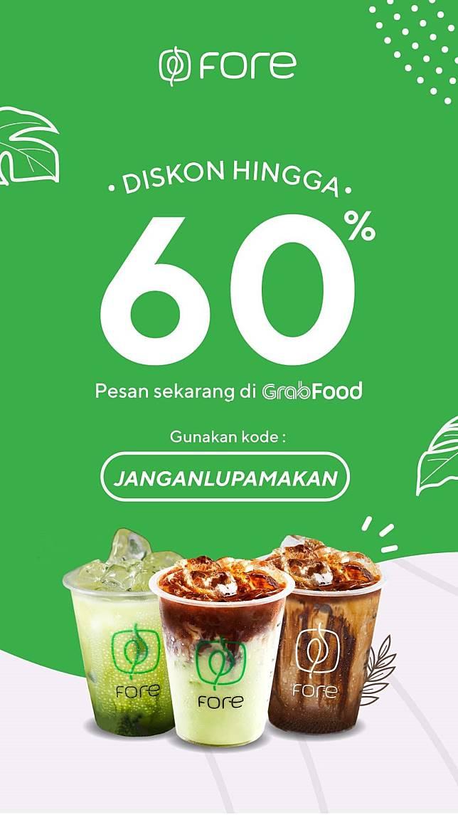 Fore Promo Diskon Hingga 60 Pesan Di Grabfood Fore Coffee Line Today