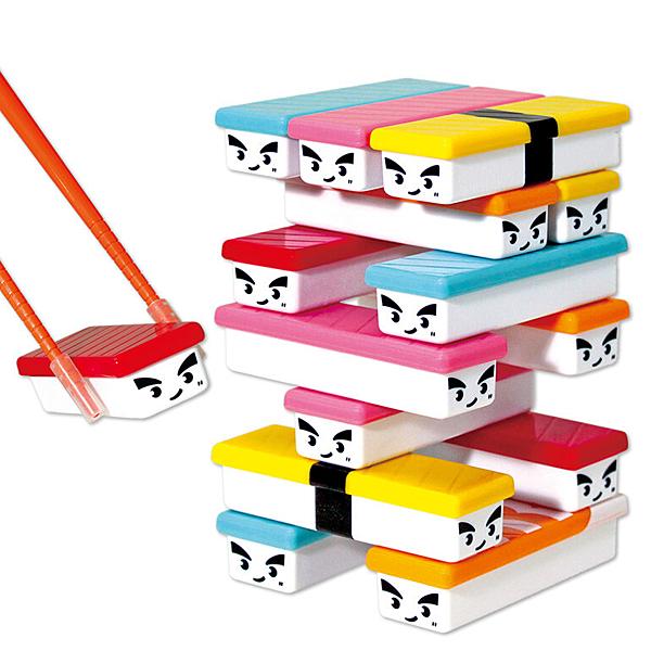 筷子夾壽司疊疊樂 平衡遊戲 懲罰遊戲 日本正版 多種玩法, 可像疊疊一樣的玩法, 也可練習筷子的功力