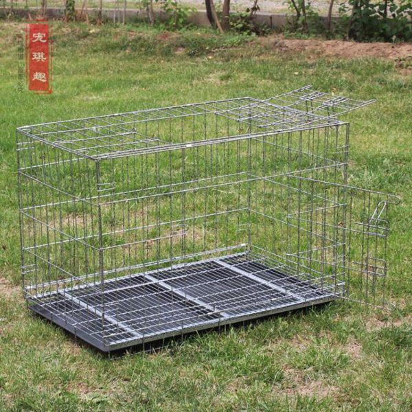 加粗角鋼摺疊狗籠子70/85/100/130寵物籠子 大中小型犬 ATF 魔法鞋櫃