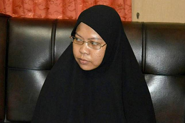A picture taken on December 11, 2016 shows Dian Yulia Novi, one of two former domestic workers who had allegedly volunteered to become suicide bombers in Jakarta and Bali