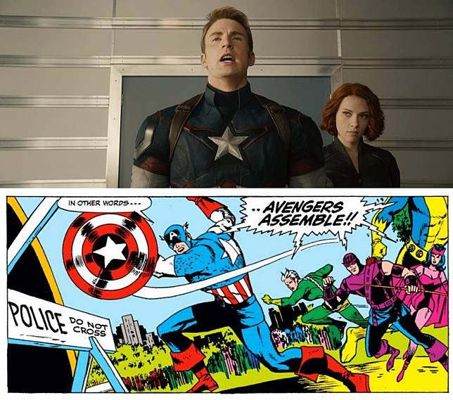 「Avengers, assemble!」是漫畫中招牌集結口號,Fans等了11年終於在電影聽到。(互聯網)
