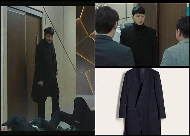 除了劇中兩位女主角有大量靚衫靚手袋上陣之外,玄杉所飾演的北韓軍官李正赫於第14集亦有穿上dunhill的Kimono羊毛長褸。(互聯網)