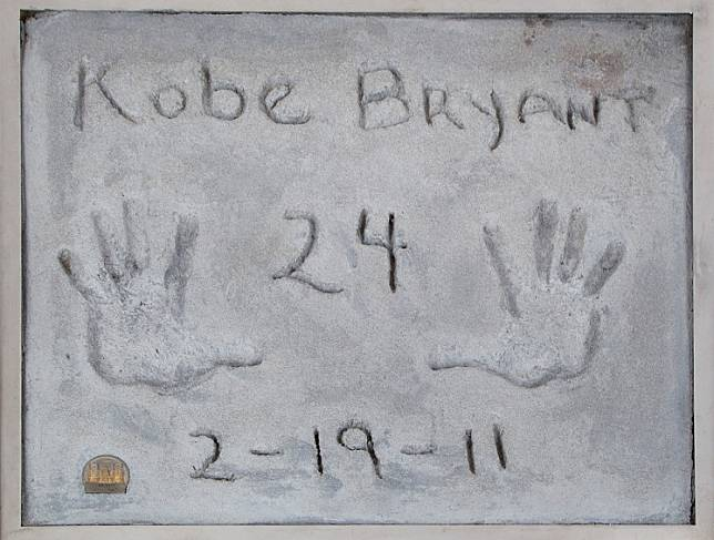 Test prints of Kobe Bryant's hands, made in 2011 when the late basketball player became the first athlete to leave his prints in cement outside Grauman's Chinese Theatre in Hollywood, are pictured in an undated photo before going up for auction Beverly Hills, California, US, released on Feb. 27, 2020. The late Kobe Bryant's induction into America's basketball hall of fame has been postponed to 2021.
