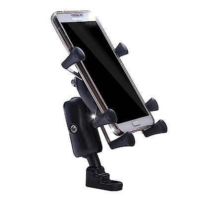 【OMyCar】六爪機車手機架(4-6吋手機)短臂款全配組 附高彈性固定帶 摩托車