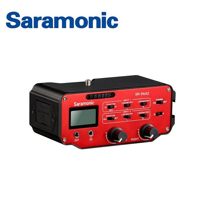 重要資訊型號:SR-PAX2保固:一年貨源:公司貨配件:主機及原廠包裝配件【Saramonic 楓笛】單眼相機、攝影機混音器 SR-PAX2SARAMONIC SR-PAX2,單眼相機、攝影機雙聲道混