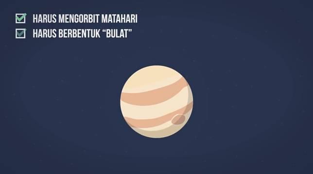 Ngga sampai situ aja, setelah muterin matahari, bentuknya pun harus bulat. Hmm.. apakah itu bakso termasuk Planet?