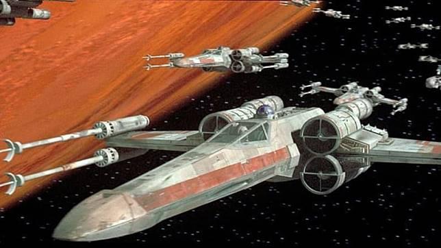 Pesawat X-Wing di 'Star Wars'. (Foto: Star Wars)