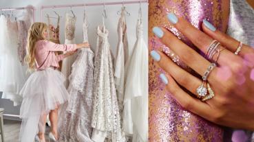 誰把婚紗設計帶入戒指?HEARTS ON FIRE聯手美國婚紗天后 璀璨炫目創造戒指混搭的多變樣貌
