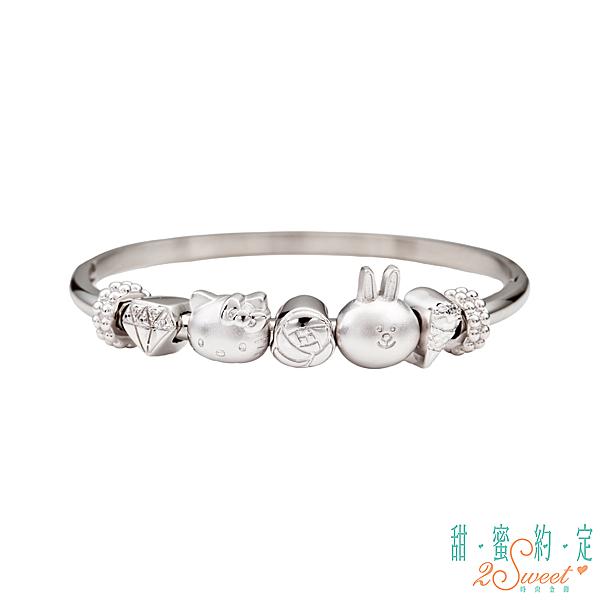 HelloKitty三麗鷗原廠授權商品。 925純銀打造,時尚又可愛。 情人節,生日禮物首選。
