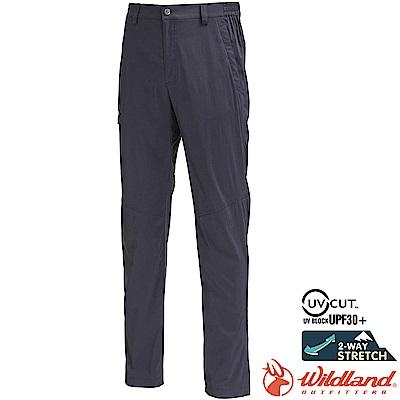 Wildland 荒野 0A71352-99深鐵灰 男彈性輕薄抗UV長褲/大尺碼